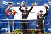 Scott Dixon, Will Power, Robert Wickens, Indianapolis Infield