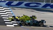 Ed Carpenter verslaat Dario Franchitti met 0,009 seconden op de Kentucky Speedway