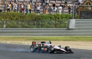 Will Power gaat te laat in de ankers op Motegi