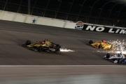 James Hinchcliffe leidt Ryan Hunter-Reay en Helio Castroneves op de Texas Motor Speedway