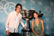 Dario Franchitti viert zijn kampioenschap met vrouw Ashley Judd