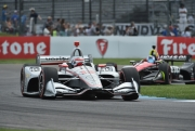 Will Power en Robert Wickens, Indianapolis Infield