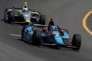 Alex Tagliani voor Josef Newgarden op de Pocono Raceway