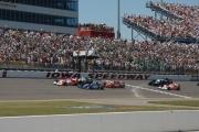 Start van de race op de Iowa Speedway
