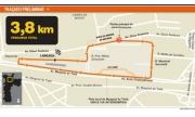 De voorgestelde lay-out voor de race in São Paulo