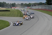 Alexander Rossi leidt de start op de Mid-Ohio Sports Car Course