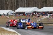 Charlie  Kimball voor Scott Dixon Barber Motorsports Park