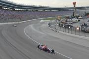 Marco Andretti leidt voor Ryan Hunter-Reay op de Texas Motor Speedway