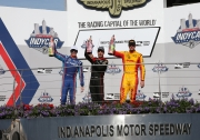 Het podium van de IndyCar Grand Prix of Indianapolis