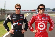 Dario Franchitti, Will Power, Motegi Road Course