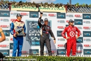 Dario Franchitti, Will Power, Justin Wilson, Sonoma Raceway