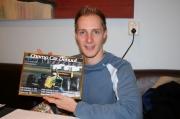 Charles Zwolsman ontvangt van ChampCar.nl een foto ter herinnering aan zijn Champ Car debuut