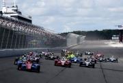 De start van de race op de Pocono Raceway