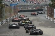 De start van de race in Toronto