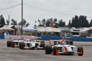 John Edwards leads the pack into Turn 1 at Sebring