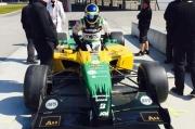 Sebastien Bourdais test de Panoz DP01 op het NOLA Motorsports Park