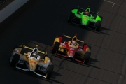 James Hinchcliffe, Ryan Hunter-Reay, Sebastian Saavedra, Indianapolis