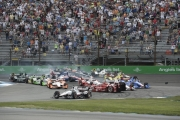 Scott Dixon, Will Power bij de Start van de Grand Prix of Indianapolis