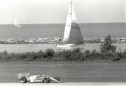 Al Unser Jr. in 1987 op het circuit van Cleveland
