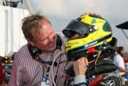 Dale  Coyne feliciteert Bruno Junqueira, Watkins Glen