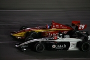 Arie Luyendyk Jr naast James Davison op de Kentucky Speedway