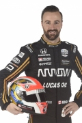 James Hinchcliffe met helm