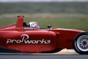 James Hinchcliffe tijdens de open test op de MSR Houston