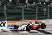 Bruno Junqueira gaat voorbij de finish in Houston