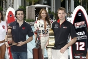 De kanshebbers op de 2010 titel: Dario Franchitti en Will Power